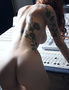 Busty Azura In The Studio